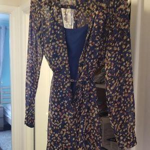 Jessica Simpson Floral Dress Sheer
